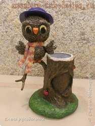 Мастер-класс по папье-маше: Карандашница с совой