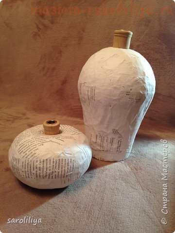 Мастер-класс по папье-маше: Бюджетные вазы