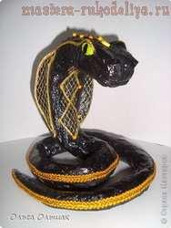 Мастер-класс по папье-маше: Черная змея