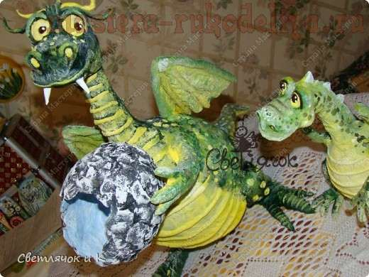 Мастер-класс: Дракон из папье-маше