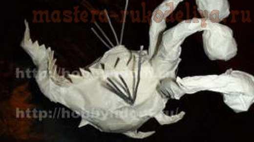 Мастер-класс по папье-маше: Дракон с сердечком