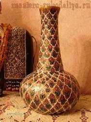 Мастер-класс по папье-маше: Индийская ваза