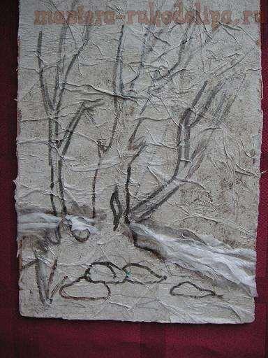 Мастер-класс: Картина из туалетной бумаги