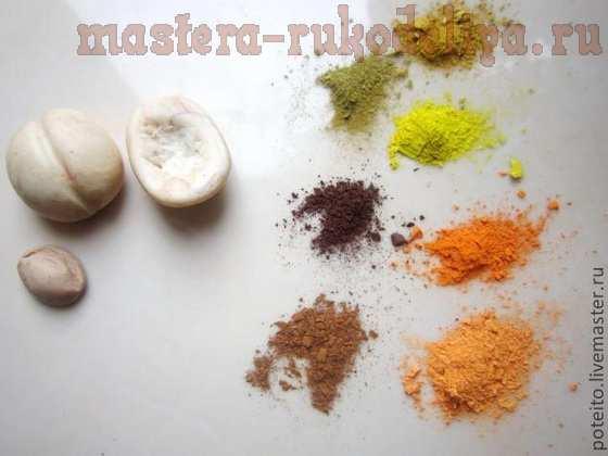 Мастер-класс по лепке из полимерной глины: Абрикос