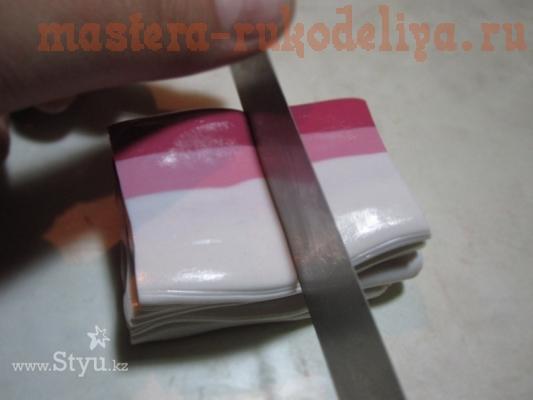 Мастер-класс по работе с полимерной глиной: Переход цвета вручную «Акварель»