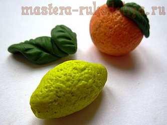 Мастер-класс по лепке из полимерной глины: Апельсин