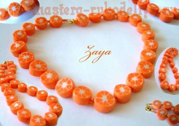 Мастер-класс: Апельсиновые дольки из пластики - два способа