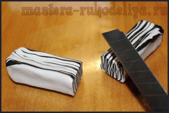 Мастер-класс по лепке из полимерной глины: Браслет; Зебра.