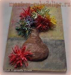 Мастер-класс по лепке из полимерной глины: Букет хризантем