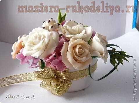 Мастер-класс: Букет роз из холодного фарфора