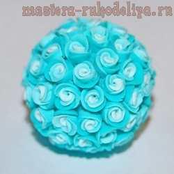Мастер-класс по лепке из полимерной глины: Бусина с розами