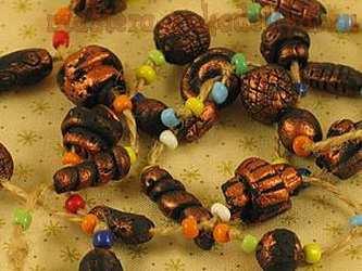 Мастер-класс по лепке из полимерной глины: Бусы в африканском стиле