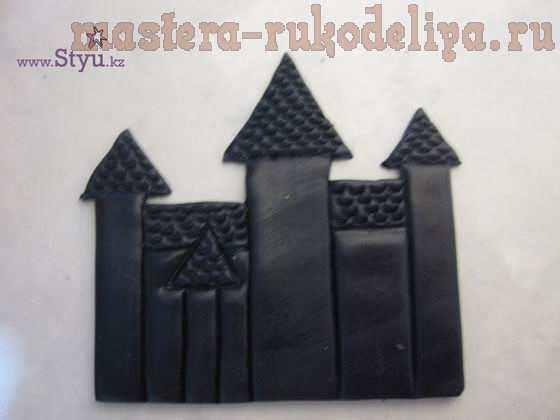 Мастер-класс по работе с полимерной глиной: Брошь Чешский дворик