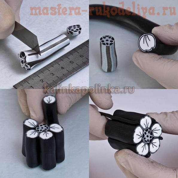 Мастер-класс: Цветок из полимерной глины в технике миллифиори