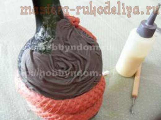 Мастер-класс по лепке из глины: Декорирование бутылки