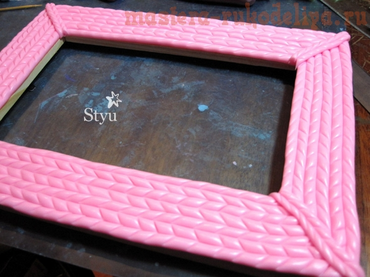Мастер-класс по лепке из полимерной глины: Фото-рамка