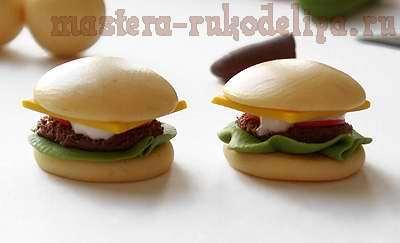 Мастер-класс: Гамбургер из полимерной глины