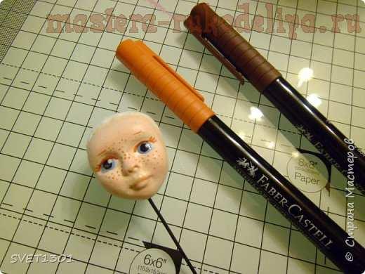 Мастер-класс по лепке из полимерной глины: Голова для ватной игрушки