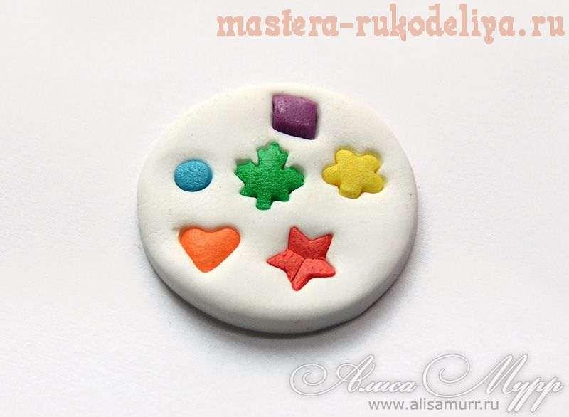 Мастер-класс по лепке из полимерной глины: Рисунок; горошек; и другие на пластике