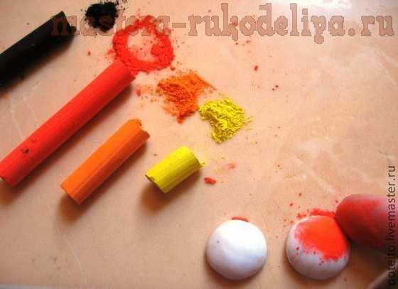 Мастер-класс по лепке из полимерной глины: Грибочки подосиновики