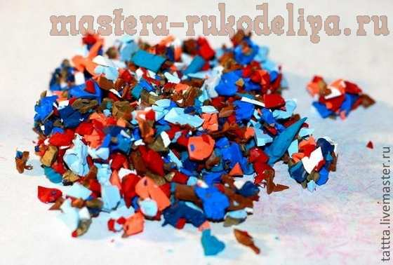 Мастер-класс по лепке из полимерной глины: Как сделать рваный край