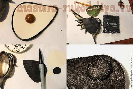 Мастер-класс по лепке из полимерной глины: Колье; Крыло Дриады.