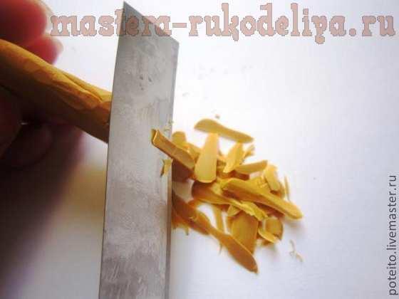 Мастер-класс по лепке из полимерной глины: Конфета с ореховой начинкой