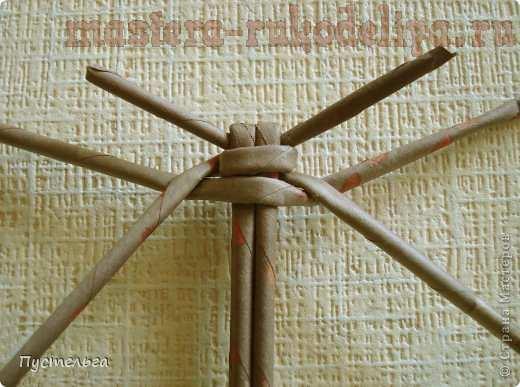 Мастер-класс по плетению из газет: Божья коровка