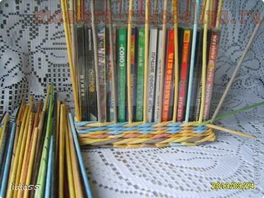Мастер-класс по плетению из газет; Бронзовая; копилка