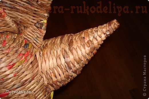 Мастер-класс по плетению из газет: Головной убор Дракон