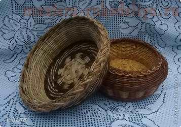 Мастер-класс по плетению из газет: Корзинка с двойным дном-2