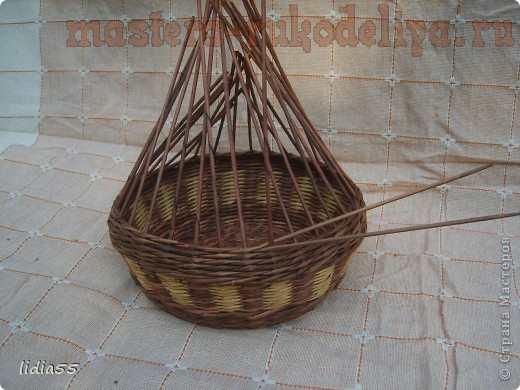 Мастер-класс по плетению из газет: Корзинка с двойным дном