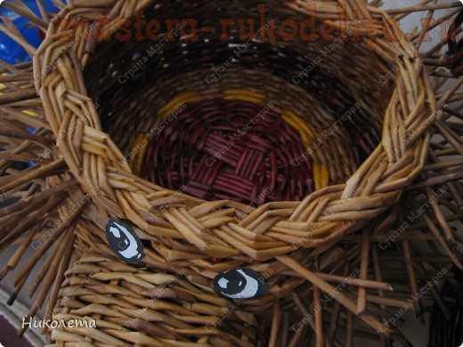 Мастер-класс по плетению из газет: Корзинка Ёжик