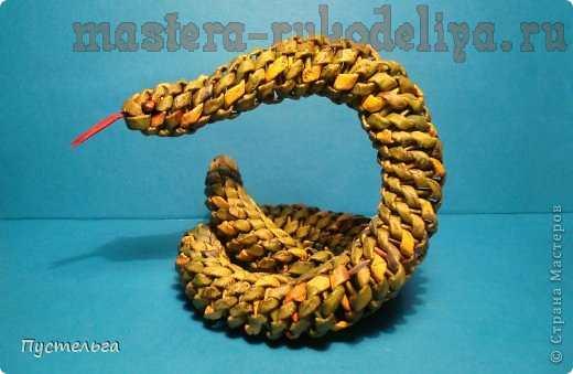 Мастер-класс по плетению из газет: Ёлочка