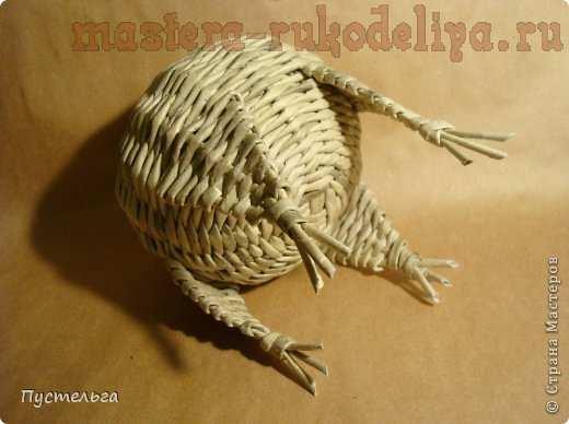 Мастер-класс по плетению из газет: Енот