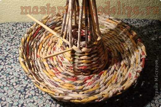 Мастер-класс по плетению из газет: Фруктовница