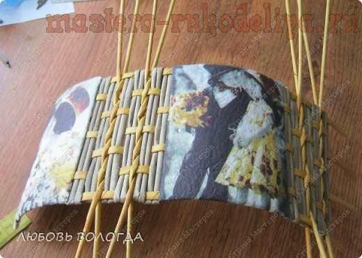 Мастер-класс по плетению из газет: Бочоночек со вставками