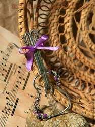 Мастер-класс по технике Wire Wrap: Брошь; Скрипка Страдивари.