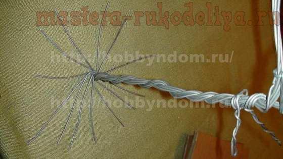 Мастер-класс по плетению из проволоки: Дерево для Птицы удачи