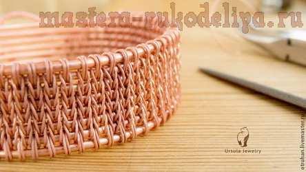 Видео мастер-класс по плетению из проволоки: Имитация вязания