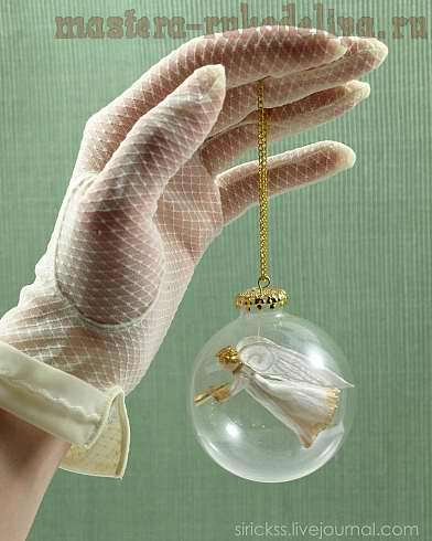 Мастер-класс: Ангел в стеклянном шаре