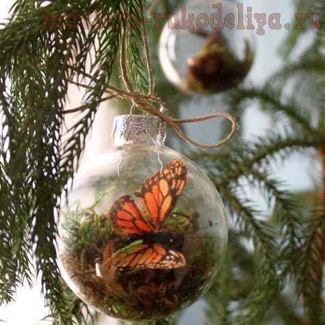 Мастер-класс: Стеклянный шар с бабочкой внутри