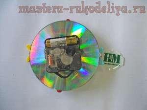 Мастер-клас: Часы из CD-диска