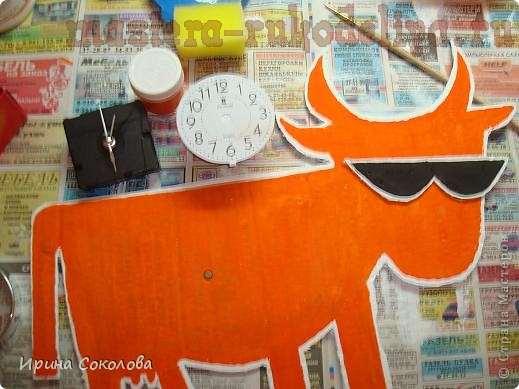 Мастер-класс: Часы; Бодрая корова.