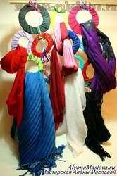 Мастер-класс: Цветная вешалка для шарфов