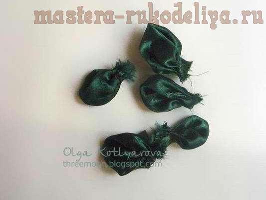 Мастер класс: Цветок с круглыми лепестками из ткани