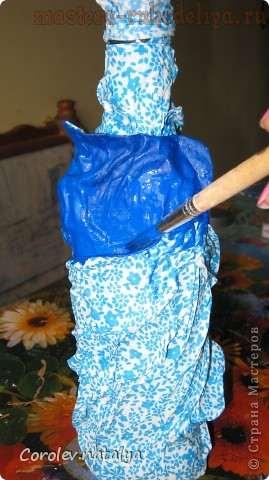 Мастер-класс по рукоделию для дома: Декорирование бутылки тканью