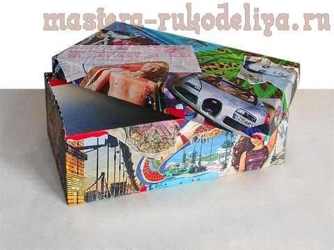 Мастер-класс: Декорирование обувной коробки. Коробка путешественника