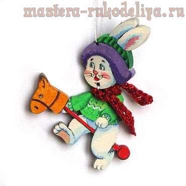 Мастер-класс: Елочные игрушки - Котики и зайчики