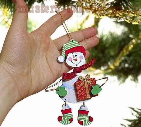 Мастер-класс: Елочная игрушка - Веселый снеговик
